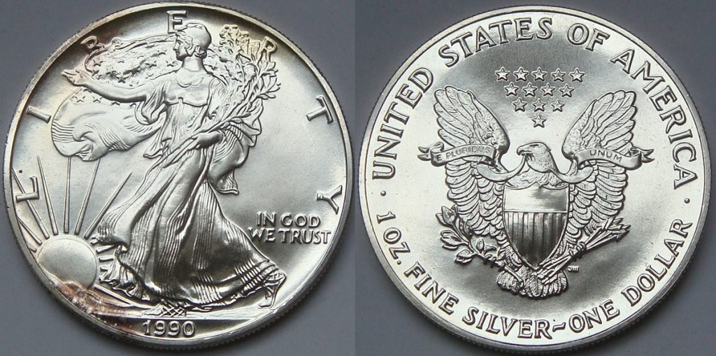 1990 Silver Eagle Value Sae Bullion Coin Price Guide