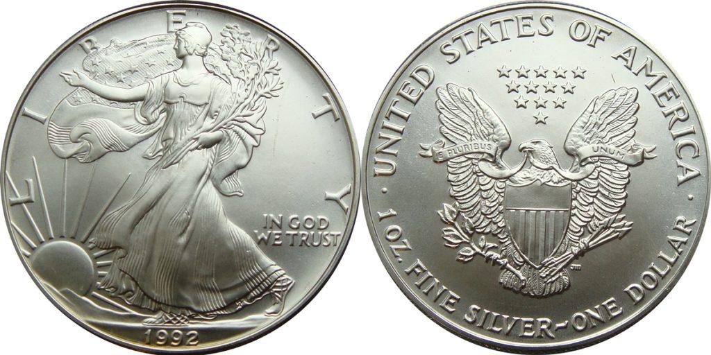 1992 Silver Eagle Value