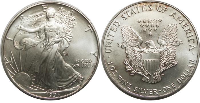 1993 Silver Eagle Value