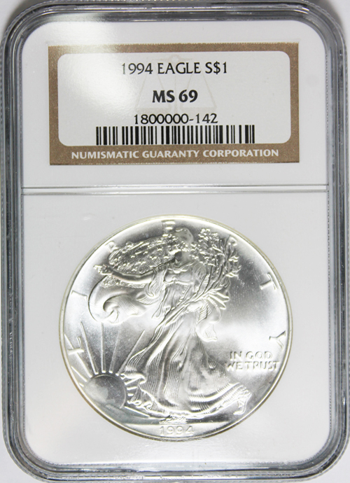 1994 Silver Eagle Value