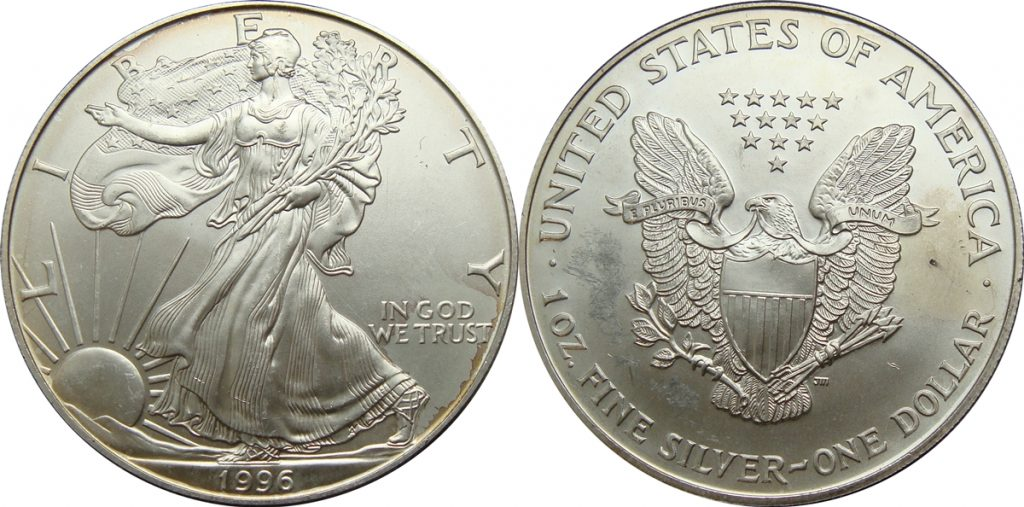 1996 Silver Eagle Value