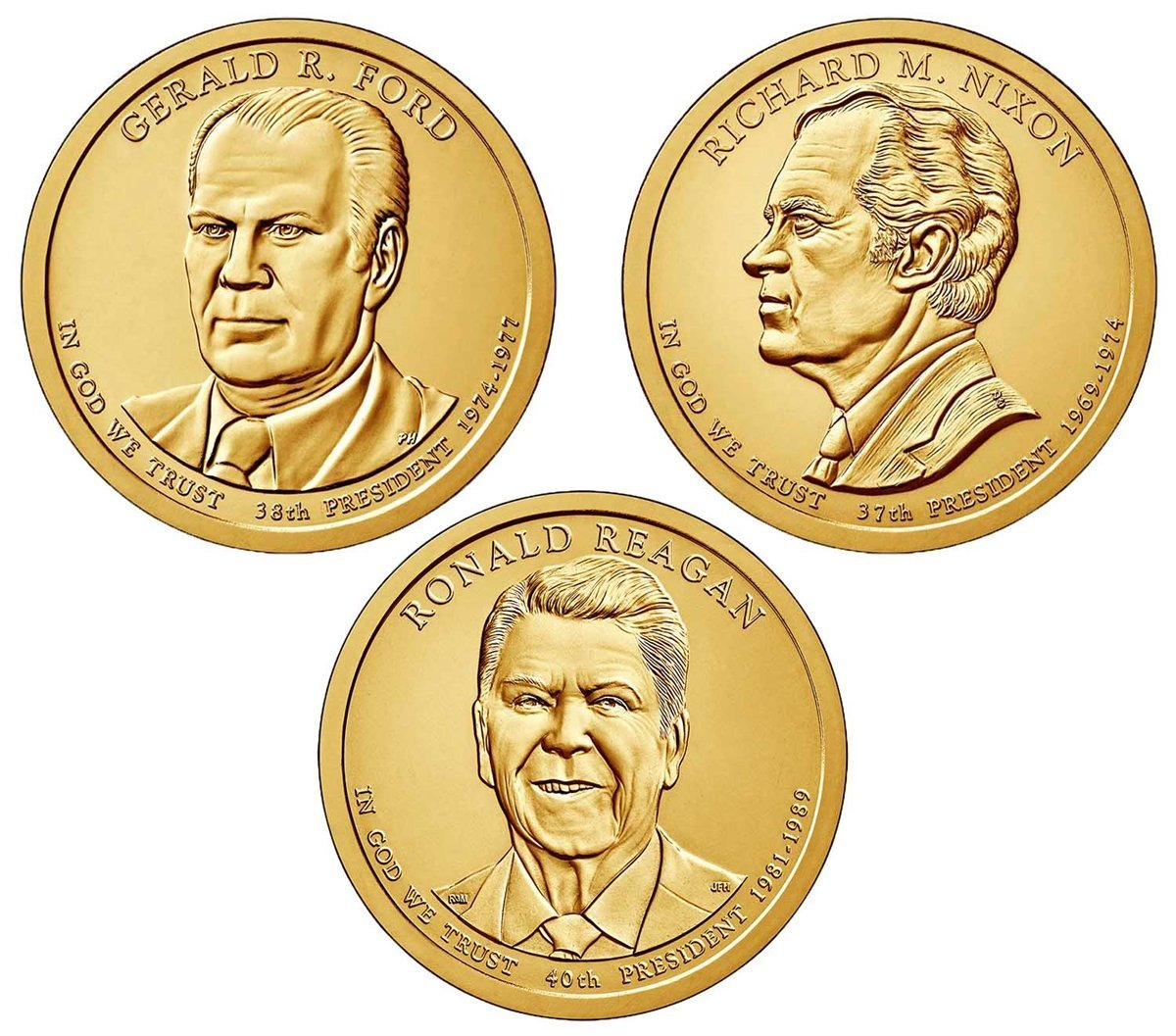 Ford US Dollar Philadelphia Mint GEM BU Upper Grading Ranges 2016-P Gerald R