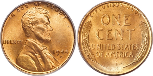 1944 Lincoln Wheat Cent Penny Value - CoinHELP