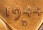 1944 D over S lincoln Cent Value