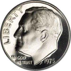 1975 No S Roosevelt Dime Proofvalue
