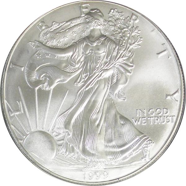 1999 Silver Eagle Value Sae Bullion