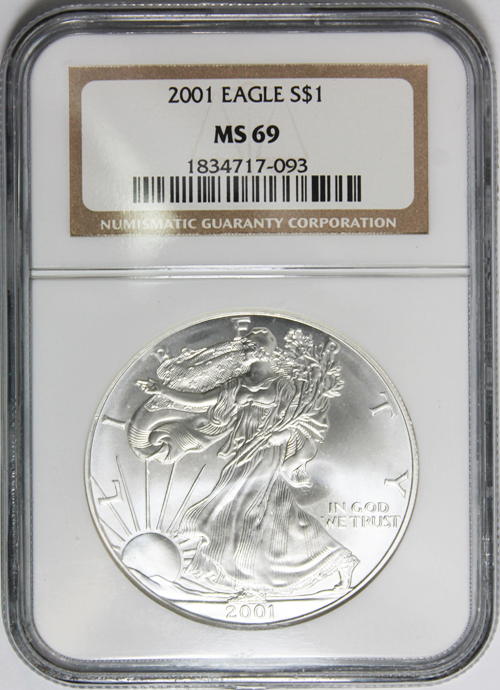 2001 Silver Eagle Value