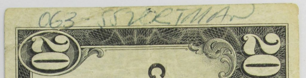 1929 Series $20 National Currency Note Signed 063 – SS Portmar