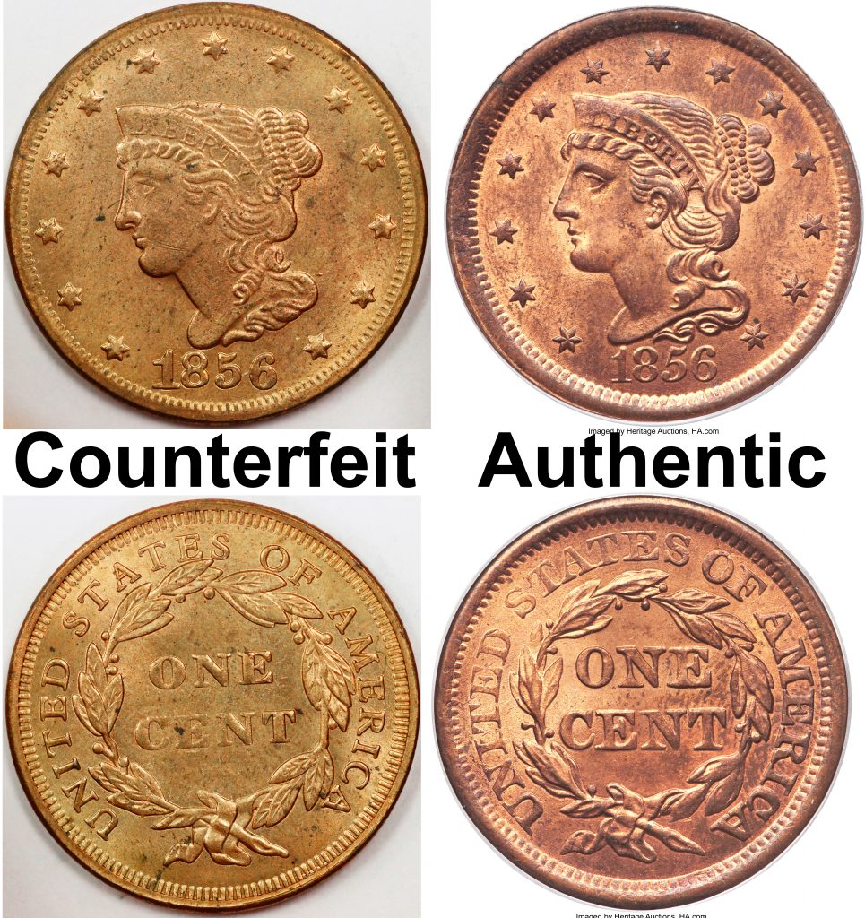 Large Cent Counterfeit Coin