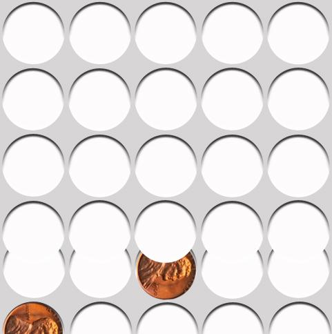 Clipped Planchet Mint error