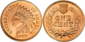 1869 Indian Head Cent Penny Value