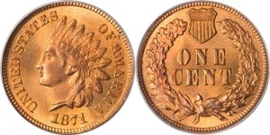 1871 Indian Head Cent Penny Value