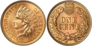 1881 indian Head Cent Penny Value