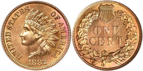 1882 Indian Head Cent Penny Value Coin Helpu