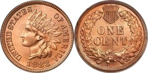 1883 Indian Head Cent Penny Value