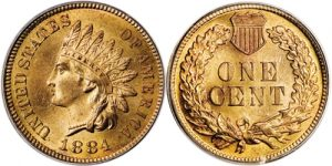 1884 Indian Head Cent Penny Value