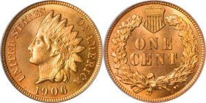 1906 Indian Head Cent Penny Value