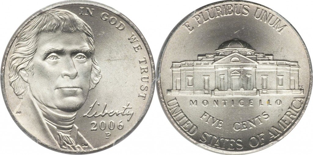 2006 Jefferson Nickel Value