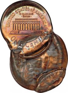 Bonded multiple struck coins