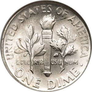 Roosevelt Dime Value Full Torch Split Bands