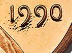 1990 No S No Mint Mark Lincoln Cent