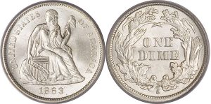 Seated Dime Value Worth
