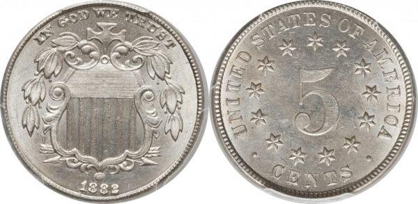 Shield 5 Cent Nickel Value