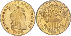 $5.00 Gold Coin Capped Bust (Turbin Head) Value 1795 To 1807