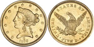 Liberty Head $5.00 Gold Coin Value 1839 To 1908 (With Motto - No Motto)