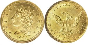 Classic Head Gold Coin Value 1834 To 1839