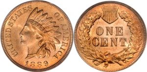 1889 Indian Head Cent Penny Value