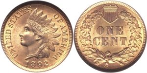 1892 Indian Head Cent Penny Value