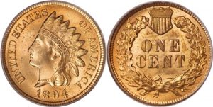 1894 1894 Indian Head Cent Penny Value Doubled Date