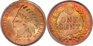 1896 Indian Head Cent Penny Value
