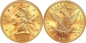 Liberty Head $10 Gold Coin Value 1838 To 1907