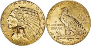 Indian Head $5 Gold Coin Value 1908 To 1929
