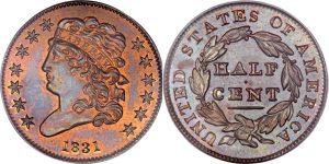 Classic Head Half Cent Value