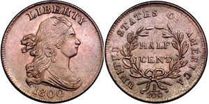 Draped bust Half Cent Value
