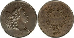 Libety Cap Pole Half Cent Value