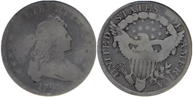 Draped bust Dollar value AG3